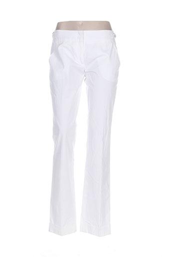 Pantalon chic blanc CARACTERE pour femme