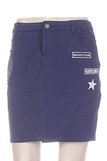 esqualo jupes femme de couleur bleu