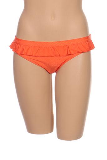 Bas de maillot de bain orange CLEO BY PANACHE pour femme