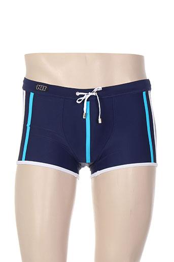 nit maillots de bain homme de couleur bleu