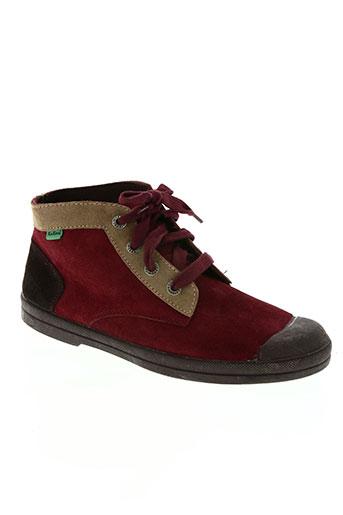 db20a9e4723 kickers chaussures femme de couleur rouge