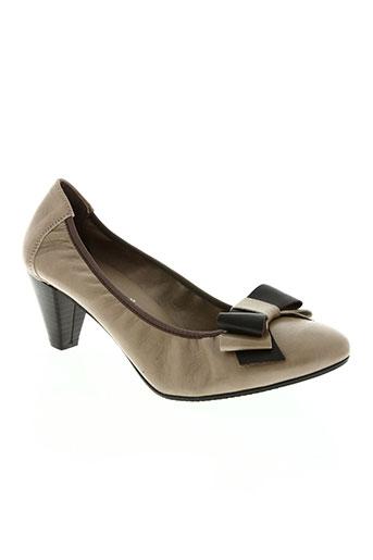 frank by co.desing chaussures femme de couleur beige