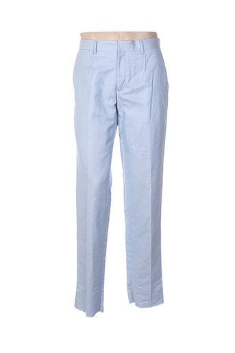 izac pantalons homme de couleur bleu