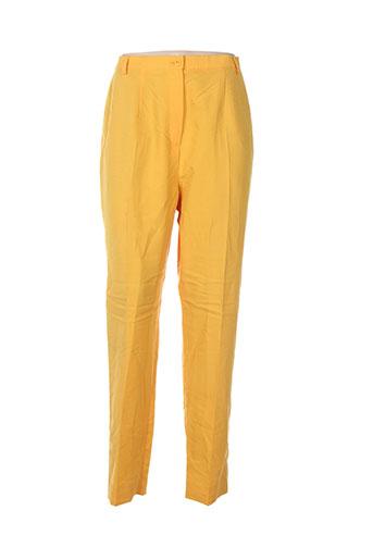 carole richard pantalons femme de couleur jaune