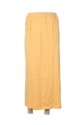 poles jupes femme de couleur jaune