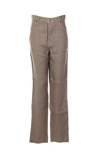 poles pantalons femme de couleur marron