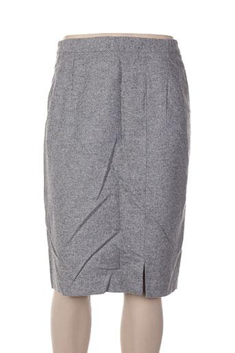 Jupe mi-longue gris CAROLE RICHARD pour femme