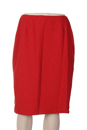 Jupe mi-longue rouge CAROLE RICHARD pour femme