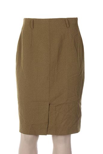 Jupe mi-longue vert CAROLE RICHARD pour femme