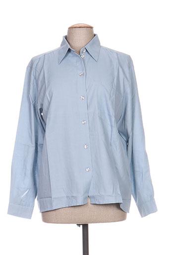 carole richard chemises femme de couleur bleu
