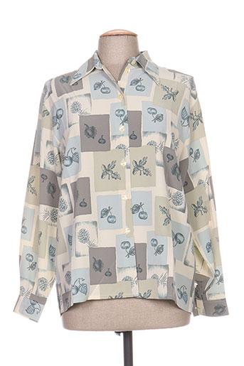 carole richard chemises femme de couleur gris