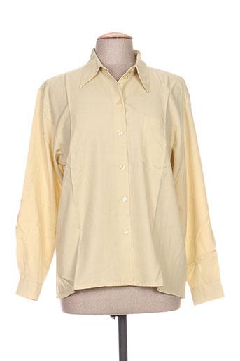 carole richard chemises femme de couleur jaune
