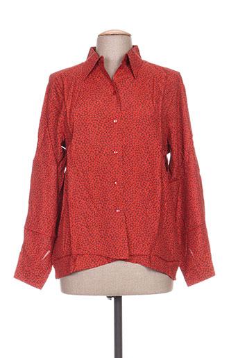 carole richard chemises femme de couleur orange