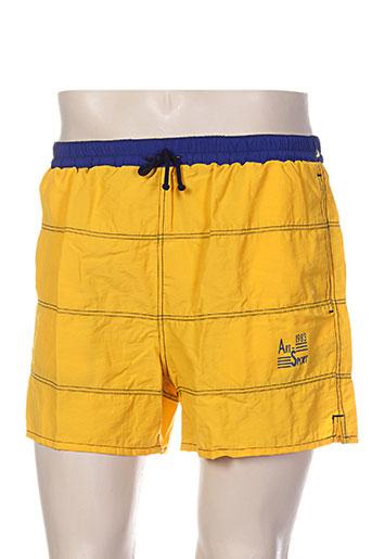 arthur maillots de bain homme de couleur jaune