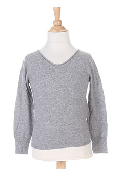 Pull col rond gris BERENICE pour fille