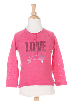 Pull col rond rose BERENICE pour fille