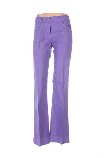 essentiel pantalons femme de couleur violet