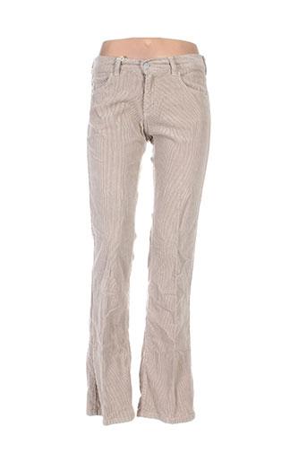 Pantalon casual beige HENRY COTTON'S pour femme