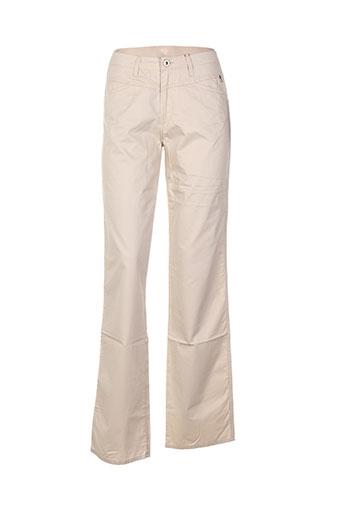 Pantalon casual beige CONCEPT K pour femme