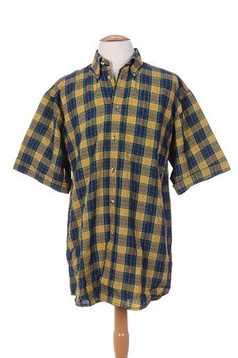 bande originale chemises homme de couleur jaune