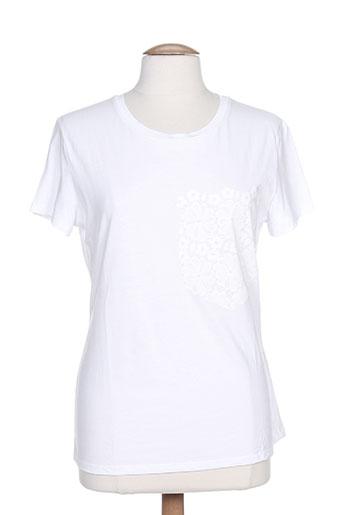 marella t-shirts femme de couleur blanc