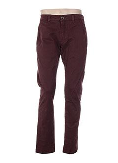 Pantalon casual rouge FRADI pour homme