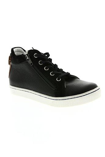 two side chaussures garçon de couleur noir