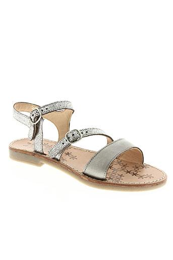 tty chaussures fille de couleur gris