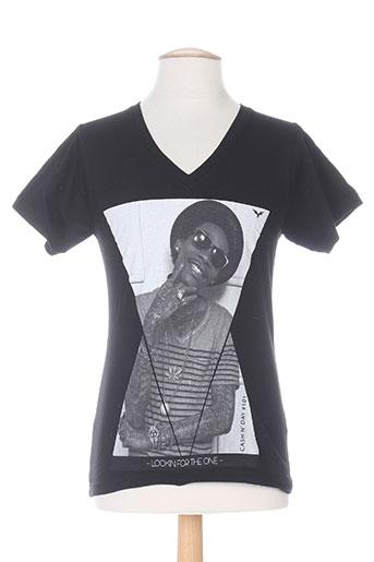 T-shirt manches courtes noir CASH N'DAY pour homme