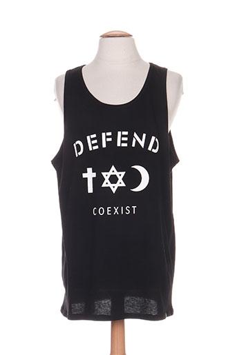 defend t-shirts homme de couleur noir