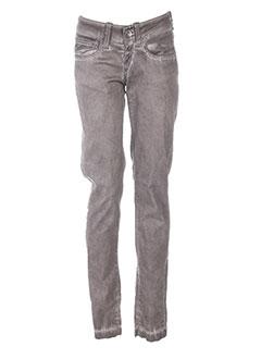 Pantalon casual gris FORNARINA pour femme