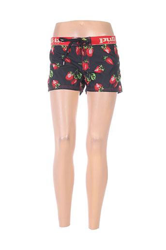 pull in shorts / bermudas femme de couleur noir
