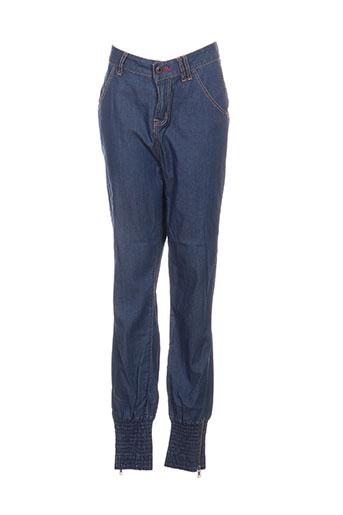 firetrap pantalons femme de couleur bleu
