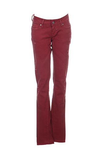 salsa jeans femme de couleur rouge