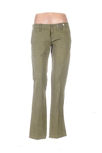 diesel pantalons femme de couleur vert