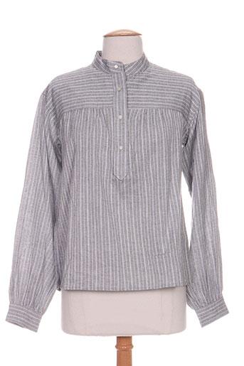 isabel marant chemises femme de couleur gris