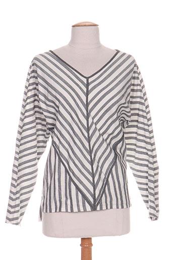 intropia chemises femme de couleur gris