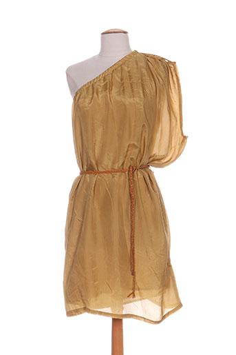 Robe mi-longue jaune IZI MI PORTO-VECCHIO pour femme
