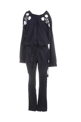 Combi-pantalon noir MY SUNDAY MORNING pour femme