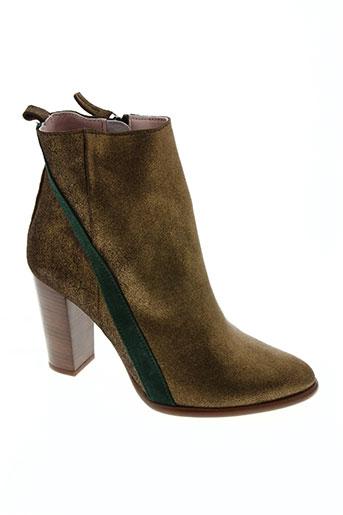 coralie masson chaussures femme de couleur vert