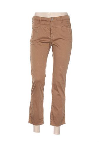 Pantalon 7/8 marron ONE STEP pour femme