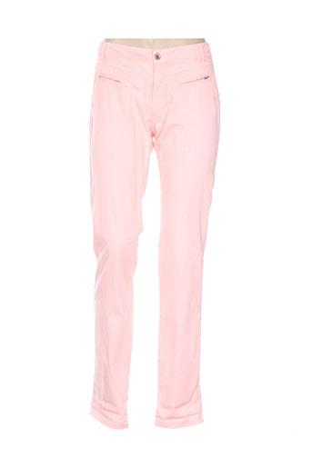 Pantalon casual rose ONE STEP pour femme