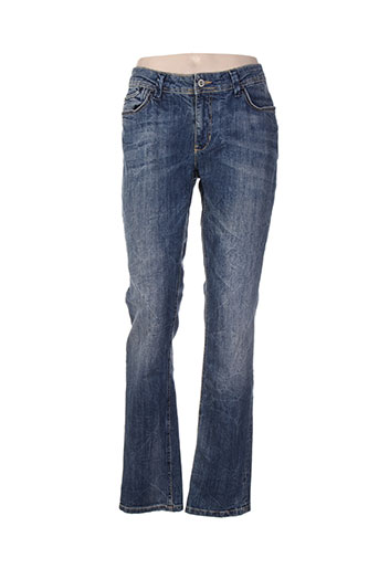 yaya jeans femme de couleur bleu