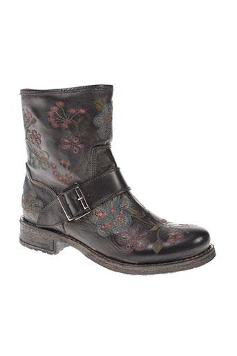 cream chaussures femme de couleur gris