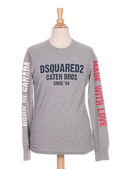 T-shirt manches longues gris DSQUARED pour garçon