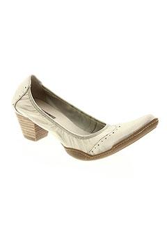 e7b0fff5796 Chaussures FUGITIVE Femme De Couleur Jaune En Soldes Pas Cher - Modz