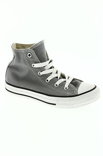 converse chaussures enfant de couleur gris