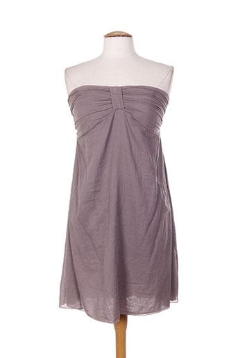 Robe courte gris DROLATIC pour femme