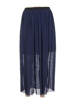 Jupe longue bleu DROLATIC pour femme