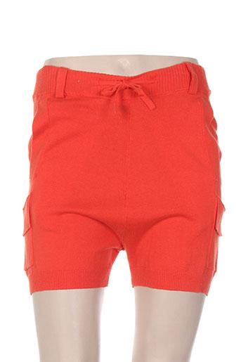 diesel shorts / bermudas femme de couleur orange